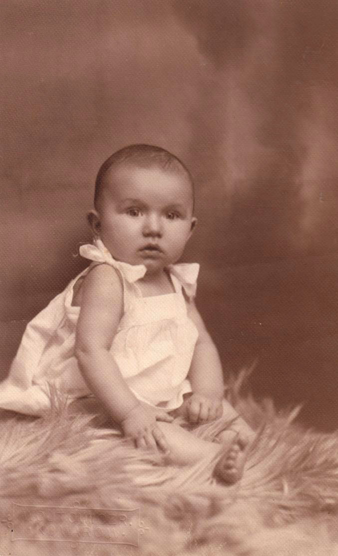 Csecsemőkori fényképem
