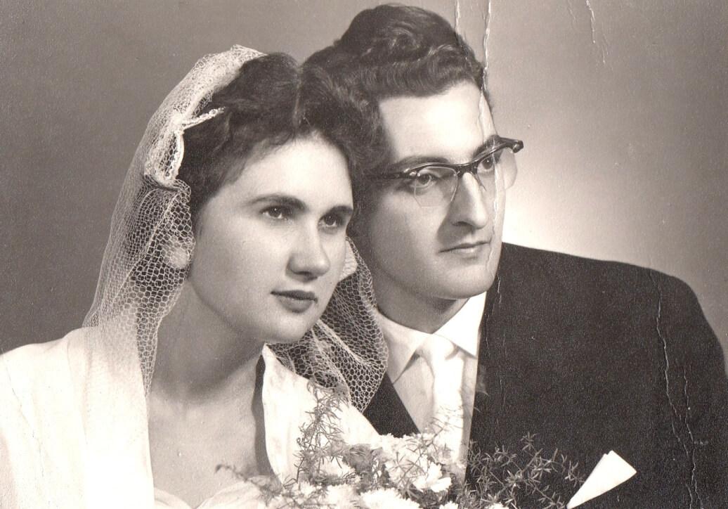 Erzsébet nővérem esküvői képe